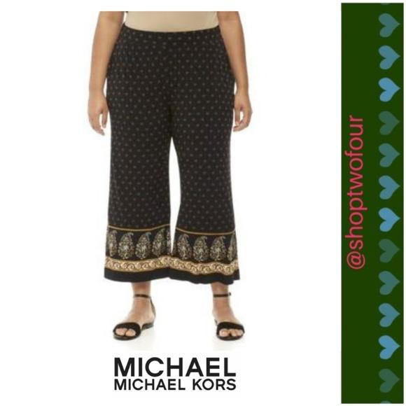 dfe6578f24a MICHAEL Michael Kors Plus Size Paisley Border Pant
